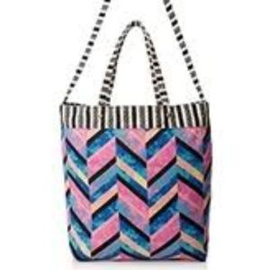 NWT LuLu Woven Tote Bag with Cross-Body Strap